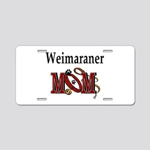 Weimaraner Mom Aluminum License Plate